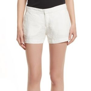 Joie Merci White Linen Shorts SZ 0